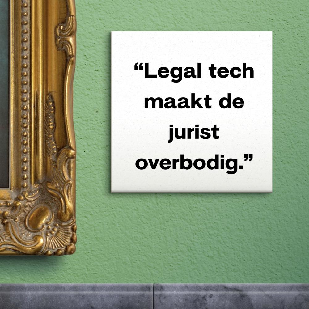 S01E02: Maakt legal tech juristen overbodig? | De wet als kunstwerk